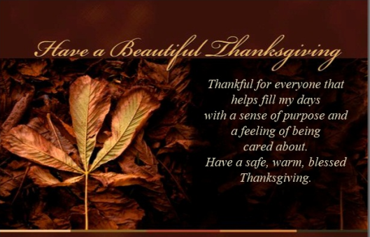 BEING THANKFUL!!